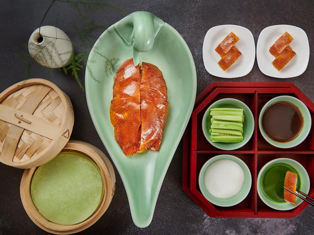 翡翠北京烤鸭西湖龙井茶套餐