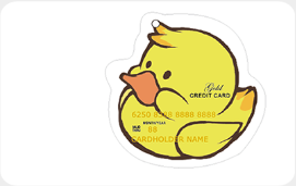 兴业流氓兔主题信用卡(小鸭子异形版)