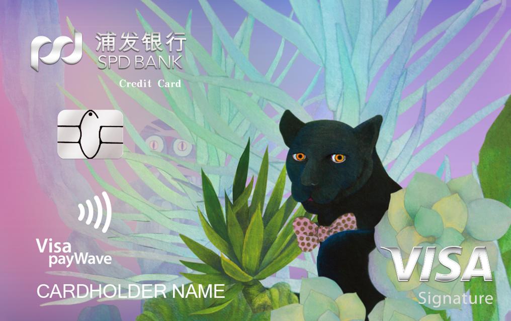 浦发银行Visa御玺信用卡-黑豹版