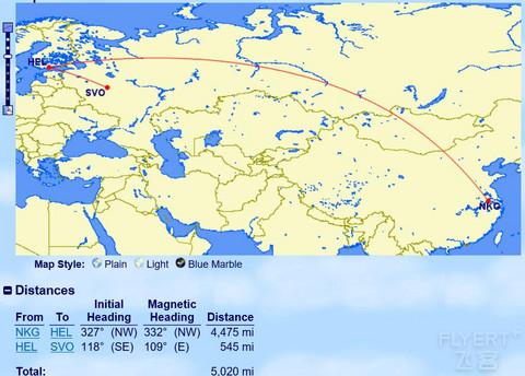 国内出发亚万两航段单程临界线路