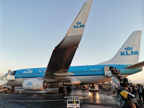 #与美好重逢#疫情前的幸运出行,体验我心目最好航司,KLM737-700欧洲短途飞行报告