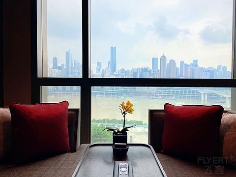 27500分的重庆市区最佳酒店体验 重庆丽晶酒店贵宾江景房