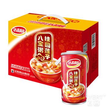 达利园  桂圆莲子八宝粥  方便速食早餐粥  360g*12 罐 整箱装