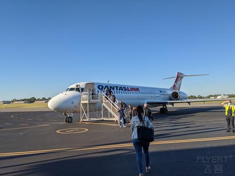 Qantaslink 老飞机B717 纽卡尔斯NTL-墨尔本MEL 「比想象中安静」