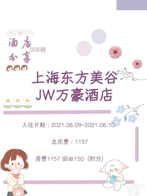 上海东方美谷JW万豪酒店(20210609-20210610)