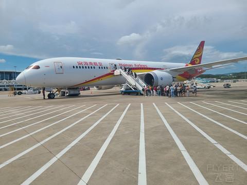 多图 海航精品线飞行报告:三亚-北京HU7280