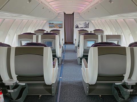 国航747-400二层公务舱体验