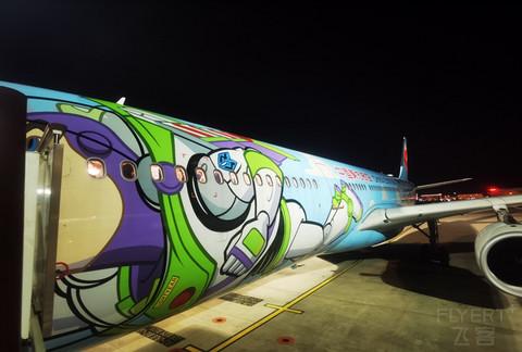 【 又见巴斯光年 】东航迪士尼彩绘333 公务舱报告