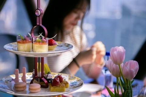 ¥310/2位--上海东方明珠塔空中旋转餐厅双人下午茶套餐