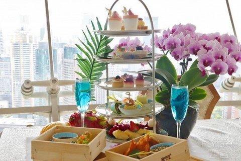 周末法定节假日通用!¥238/2位--上海新世界丽笙大酒店旋景餐厅双人下午茶
