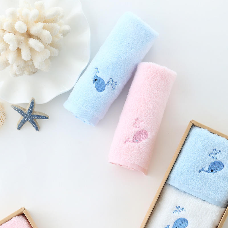 棉花糖儿童方巾3条装 百分百精梳棉织造 手感柔软 无甲醛
