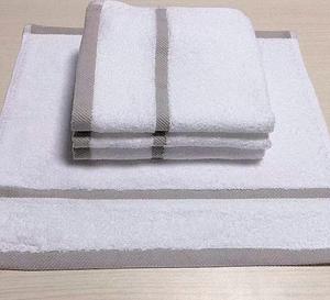 飞客茶馆定制五星酒店品质纯棉方巾3条装,手感柔软 强吸水