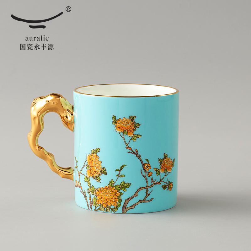 国瓷永丰源 夫人瓷西湖蓝仁心单杯 340ml  杭州G20峰会国宴用瓷