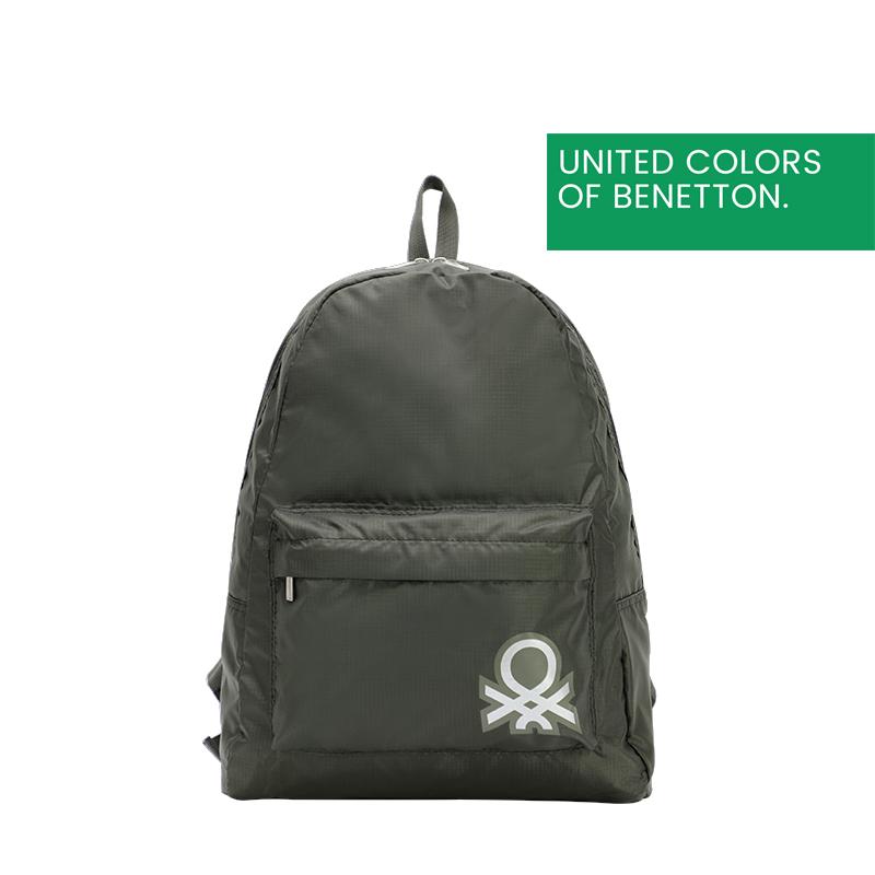 贝纳通(BENETTON)休闲双肩包学生书包可折叠双肩背包