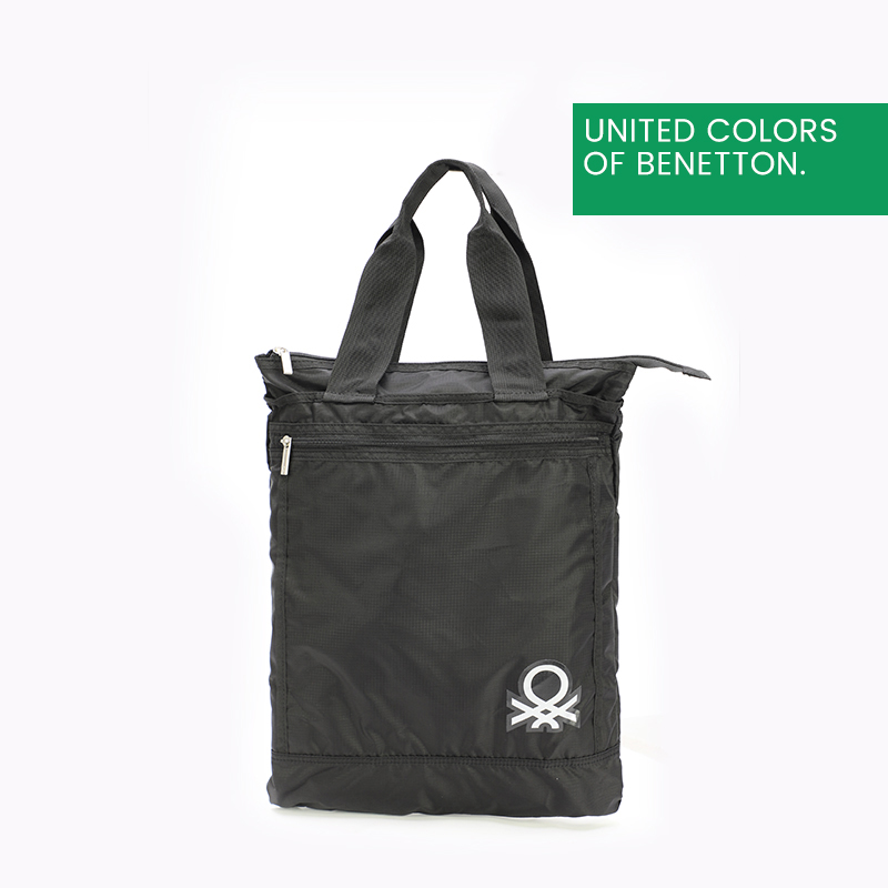 贝纳通(BENETTON)时尚便携可折叠购物袋纯色超市购物袋环保袋