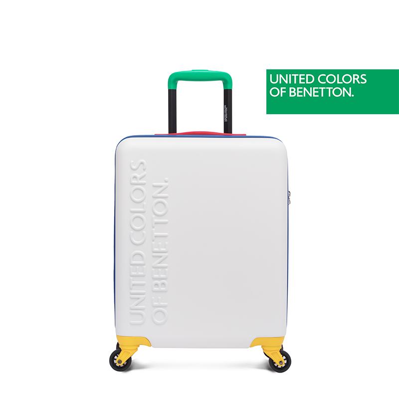 贝纳通行李箱女士拉杆箱TSA锁密码学生撞色旅行箱撞色时尚小型箱 米兰时装周走秀品牌 时尚撞色万向轮 网红箱