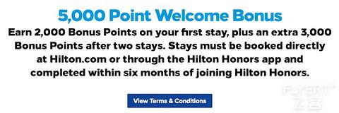 [已过期] 希尔顿新会员享最高5000积分奖励(2020-12-31前)